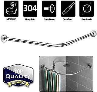 l shaped corner shower rod