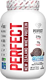 PERFECT Sports, Perfect New Zealand Whey Concentrate, Grass-Fed & Pasture Raised 1.6LB Cookies 'n Cream