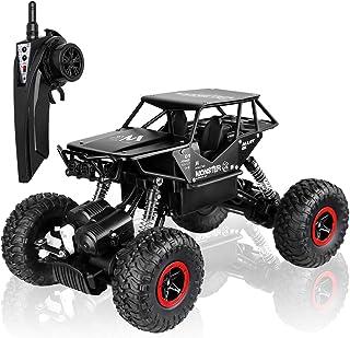 Smija ラジコンカー 車おもちゃ 2.4Ghz 4WD オフロード車 四駆 RCカー (黒)