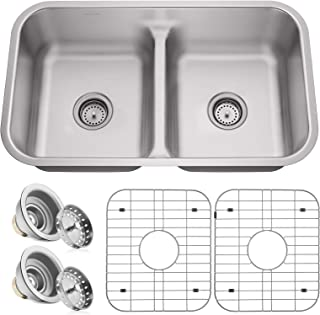 9 inch deep stainless steel double bowl kitchen sink