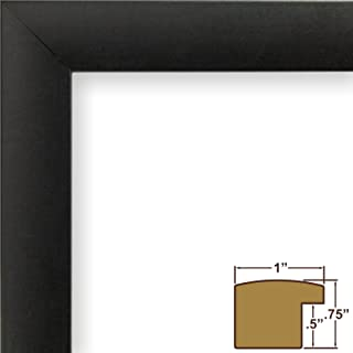 Craig Frames 1WB3BK 14 by 20-Inch Picture Frame, Smooth Wrap Finish, 1-Inch Wide, Black