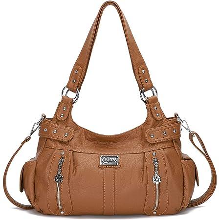 KL928 Tasche Damen Handtasche Umhängetasche shopper damen Henkeltaschen Damenhandtasche damentasche Lederhandtasche Hand Taschen für frauen (Brown)