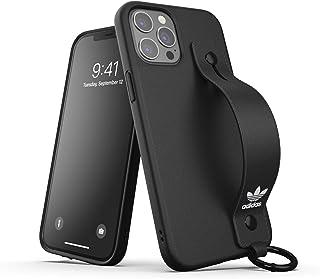 adidas Hülle Entwickelt für iPhone 12 Pro Max 6.7, Handschlaufe, Fallgeprüfte Hüllen, stoßfeste erhöhte Kanten, Original Schutzhülle, Schwarz