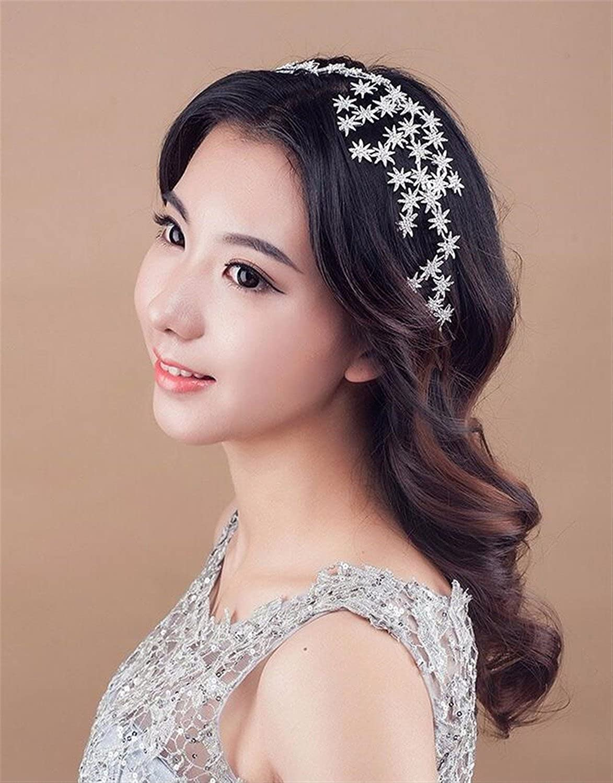 Wiipu Bridal Crowns Bridal Star Full Rhinestone Crown Hairband Vintage Crystal Tiara(A1181)