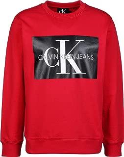 Calvin Klein Men's J30J307746-Racing Red Sweatshirts