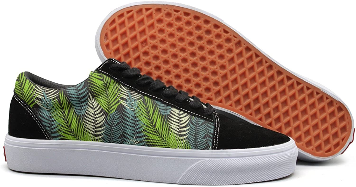 Wuixkas Beautifil Palm Tree Leaf Silhouette Womens Canvas Upper Sneakers Loafer Canvas shoes
