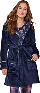 Womens Tie Waist Dressing Gown with a Hood