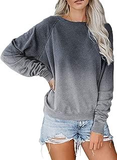 AlvaQ Women Crewneck Casual Long Sleeve Pullover Sweatshirt Tops S-XXL