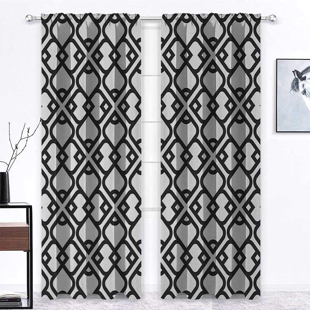 GugeABC Cafe Curtains 84 inch Length 84