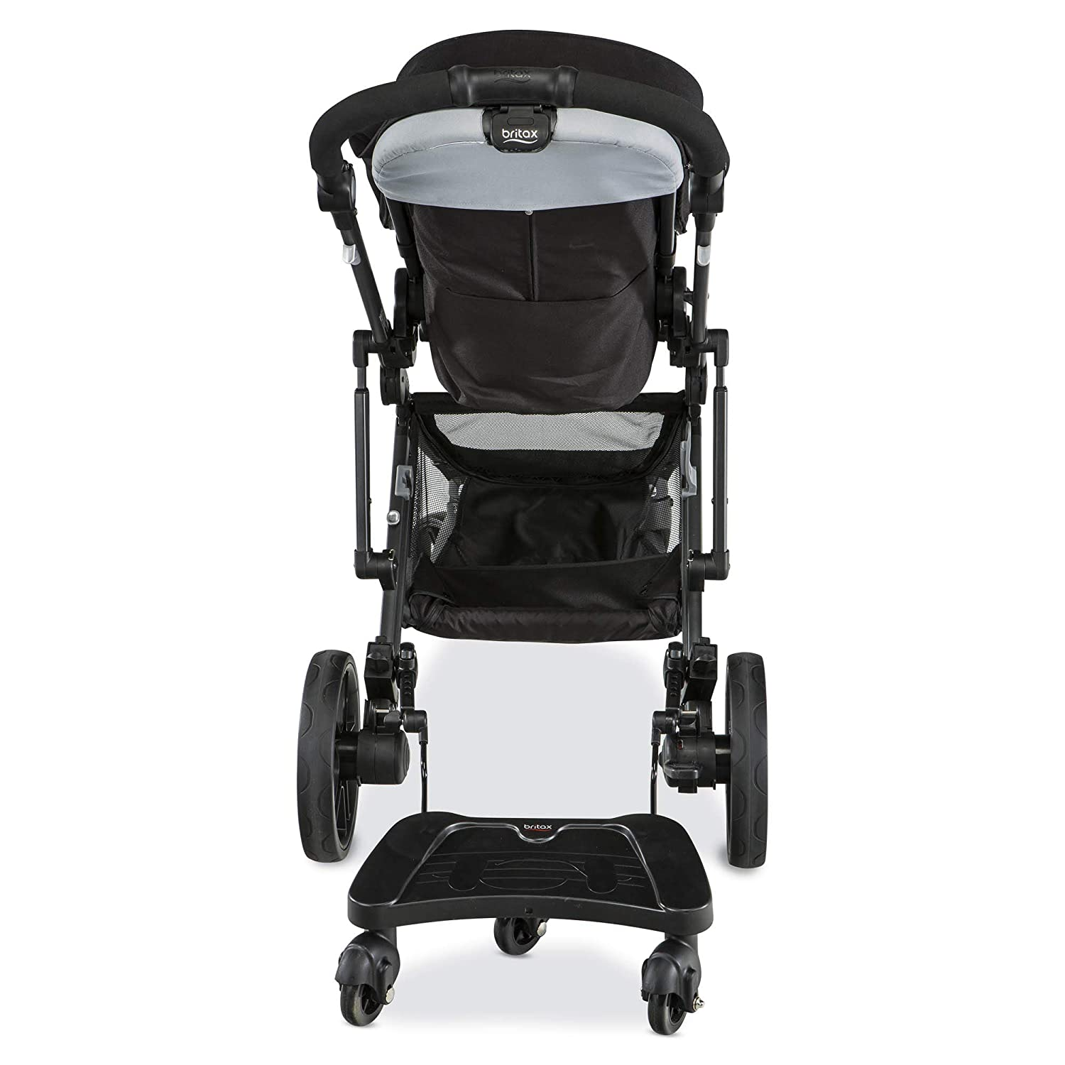 Britax Stroller Ride On Board | 3-Wheel Design for Balance + Quick Release for Easy Install and Removal + Adjustable for Height + Holds Up to 50 Pounds
