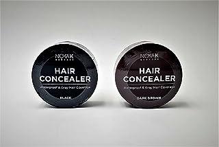 VARIETY SET OF 2 Nicka K New York Water Proof Hair Concealer Cover your Gray 0.15oz-Black , Dark Brown