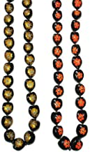 Hawaiian Style Kukui Nut Lei Hibiscus Hand Painted Assorted Colors 32 Nuts