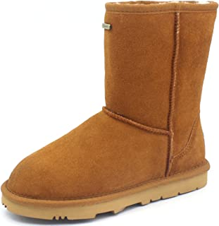 K.Signature Womens Veronica Short Classic Sheepskin Winter Boots