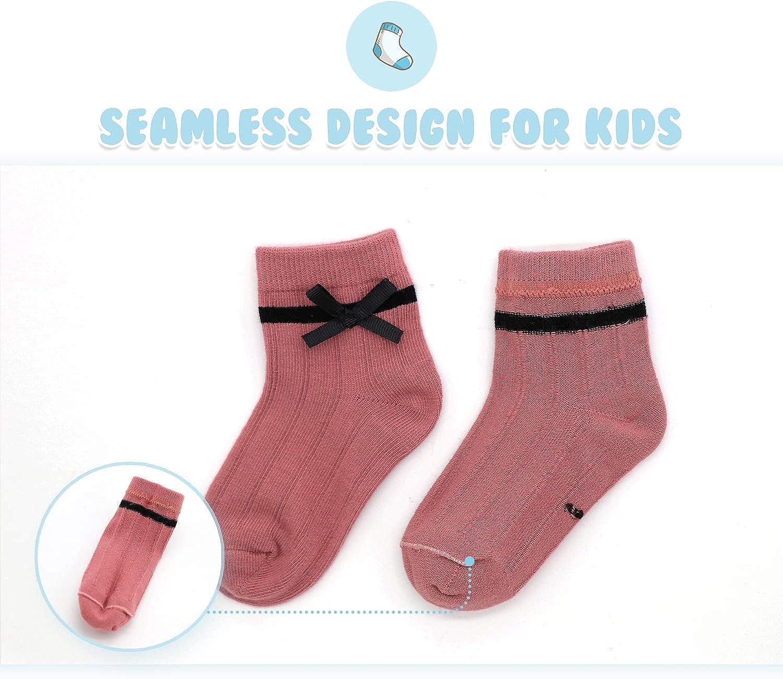 Gwenvenni Girls Socks Big Little Kids Cotton Ankle Sock Low Cut Toddler