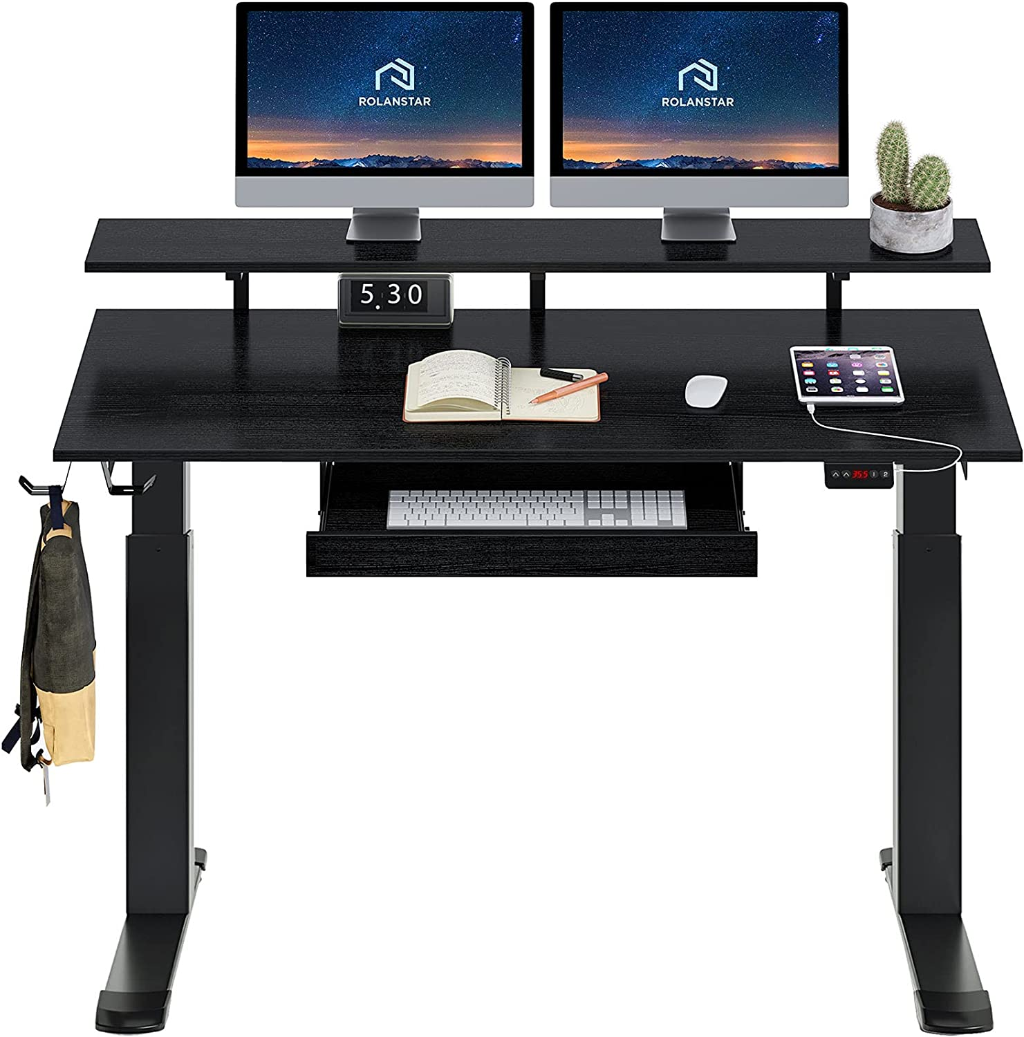 Rolanstar Standing Desk Dual Motor with USB Ranking TOP16 Charging Ports latest 55