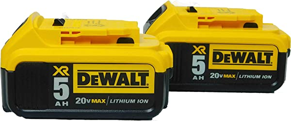 De Walt DCB205 20V Volt MAX XR 5 0Ah Li Ion Battery Packs W Fuel Gauge