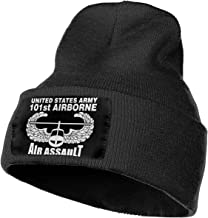 MACA Us Army 101st Airborne Air Unisex Slouch Beanie Hats - Thick, Warm & Stylish Winter Hats Black