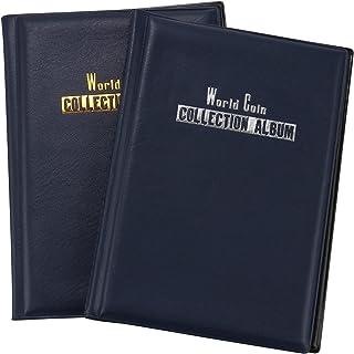 03 Cafopgrill Album de pi/èces de Monnaie 10 Pages 120 pi/èces Pi/èces de Poche Portables Album de pi/èces de Collection Collection de pi/èces de Monnaie Livre Argent Pochettes