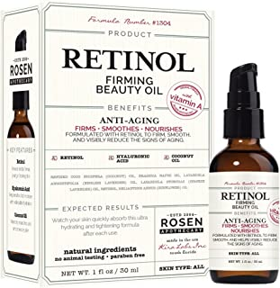 Rosen Apothecary Retinol Firming Beauty Oil with Vitamin A 1oz / 30ml