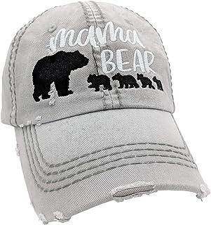 93fe9aeba6fc06 Loaded Lids Women's Customizable, Choose Cub Number, Mama Bear Baseball Cap