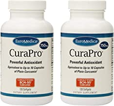 2 Bottles - EuroMedica - CuraPro 750 mg 120 softgels