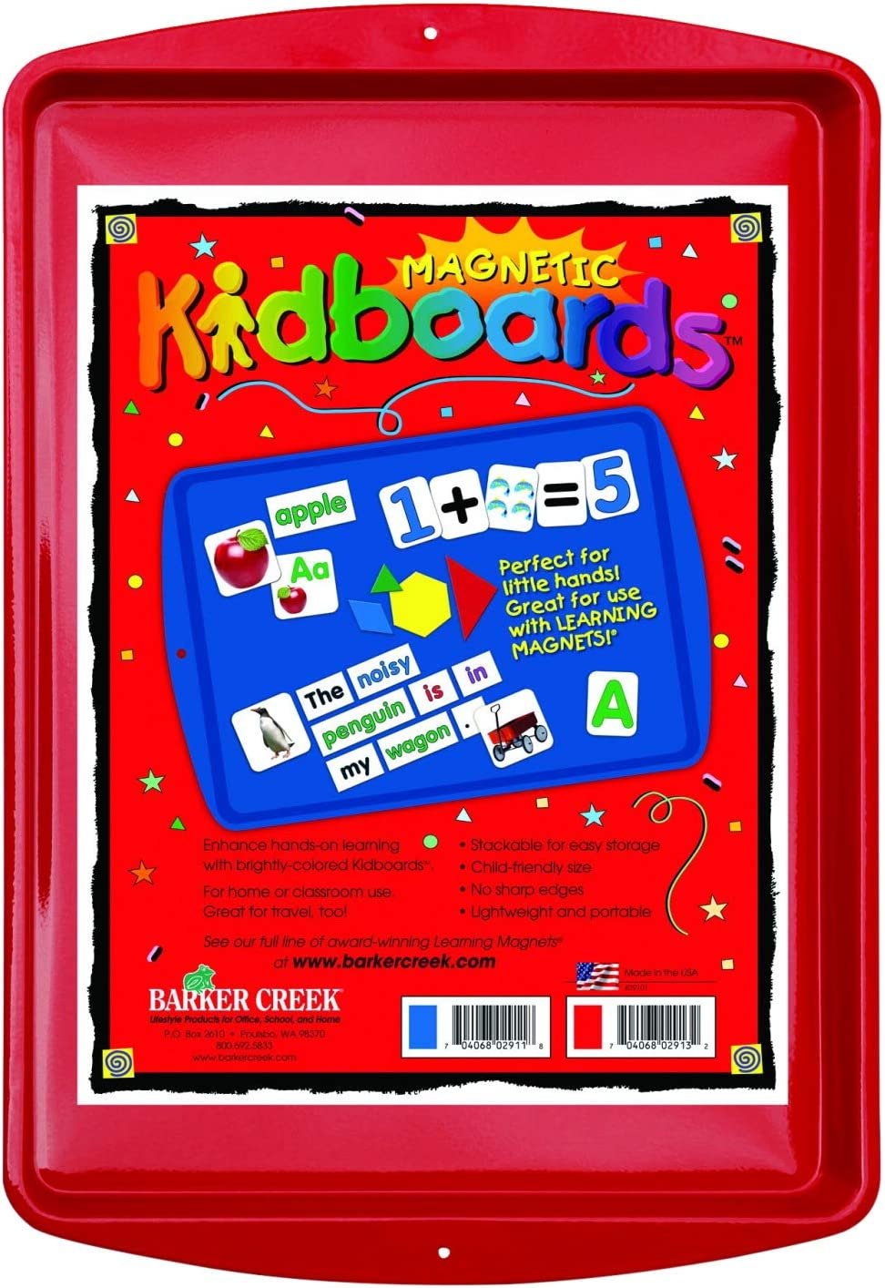 quality assurance Barker Creek Learning Magnets Kidboard This Cash special price Magnetic-Recept Red