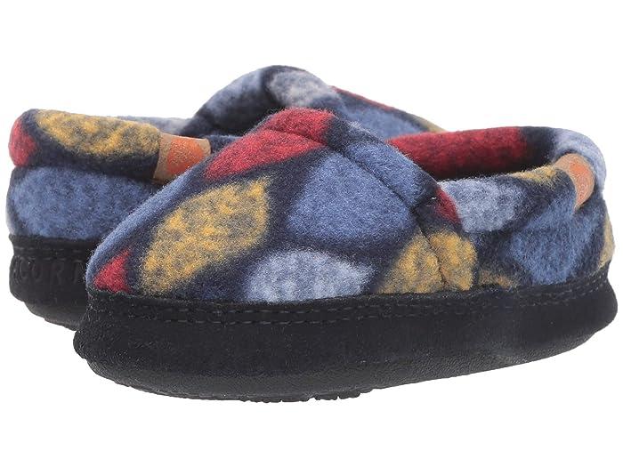 Acorn Kids  Acorn Moc (Toddler/Little Kid/Big Kid) (Navy Leaves) Kids Shoes