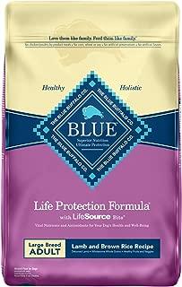 Blue Buffalo Life Protection Formula Large Breed Dog Food – Natural Dry Dog Food for Adult Dogs – Lamb and Brown Rice – 30 lb. Bag