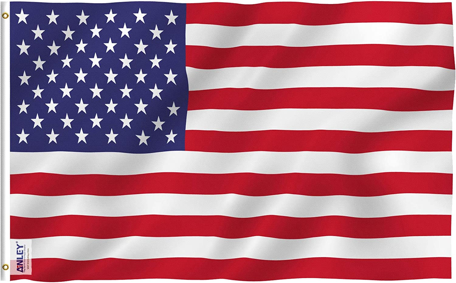 Anley Fly Breeze 3x5 Foot American US Regular discount Color High quality new UV Vivid Flag and -