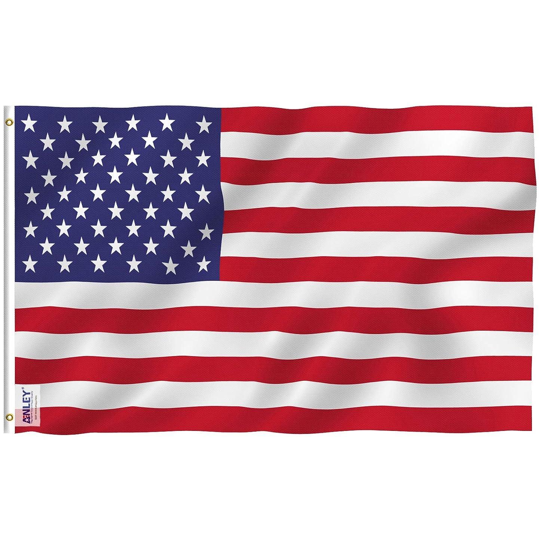 典型的な平和的指導するAnley 3X5 フィート アメリカ合衆国 ポリエステル 旗-鮮やかな色とUVフェード 耐性 -キャンバス ヘッダーとダブル ステッチ アメリカ国 旗 真鍮グロメット付き 3 x 5フィート