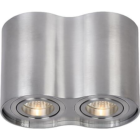 Lucide TUBE - Spot Plafond - GU10 - Chrome Dépoli
