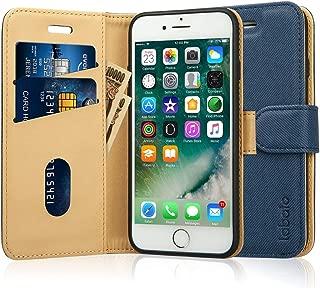 Labato iphone8 ケース iphone7 ケース 手帳型 アイフォン7 アイフォン8 ケース 軽量 手帳 人気 PUレザー カード収納 スタンド マグネット式 スマホケース (lbt-IP7-17D44, ディープブルー)