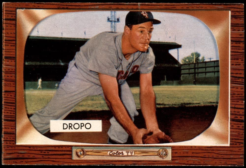 1955 Bowman # 285 Walt Dropo depot Baseball E Sox White Ranking TOP17 Card Chicago