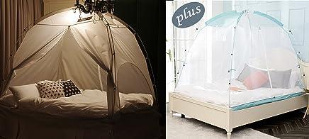 BESTEN 无地室内隐私帐篷,温暖舒适的*内部草稿房 Gray+net 两个