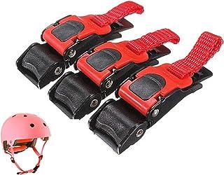1X Quick Release Helmet Strap Buckle Pull Buckles Black /& Red*vYRDE