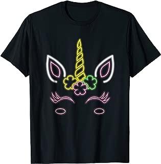 Unicorn Neon Birthday TShirt For Girls Funny Unicorns Women