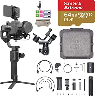 DJI Ronin SC Pro Combo 3-Axis Gimbal Stabilizer for Mirrorless Cameras, Comes Focus Wheel, Focus Motor, Tripod, Phone Holder, and DJI Carrying Case, Up to 4.4lb Payload, 1 Year Limited Wty(Renewed)