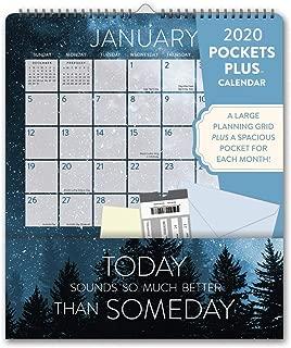 Orange Circle Studio 2020 Pockets Plus Wall Calendar, Words to Live by