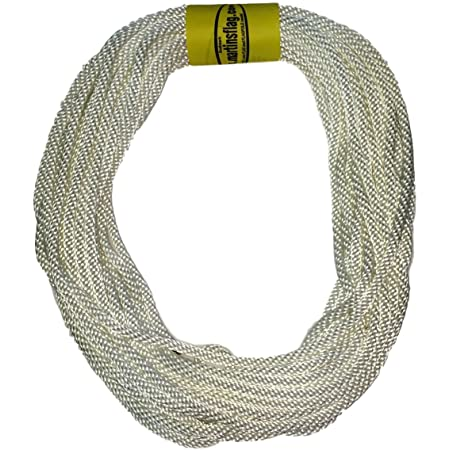 """Flagpole Rope 5/16"""" in Various Lengths, Made in The USA, Designed for Flagpoles, Available (50 Feet)"""