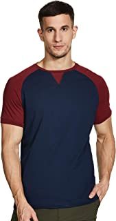 Amazon Brand - Symbol Men's Solid Regular fit T-Shirt