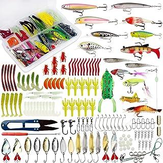 釣りルアーセット 釣具セット ルアー ハードルアー ワーム フライ ケース付き 多種類 釣り初心者に