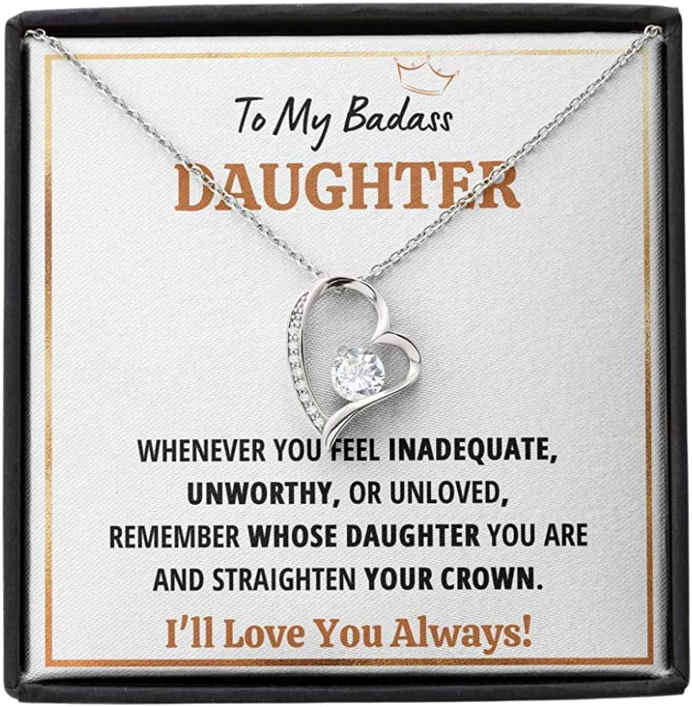 Daughter Necklace Gift From Mom Dad Bargain My Badass Straig shipfree To