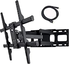 VideoSecu MW380B5 Full Motion Articulating TV Wall Mount Bracket for Most 37in,75in LED LCD Plasma HDTV Up to 125lbs with VESA 684x400 600x400 400x400 150x100mm (Renewed)