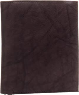 Mens Hipster Genuine Leather Bifold Wallet (Brown)