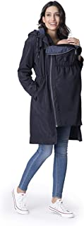Seraphine Womens Casual Quilted Maternity Rain Coat