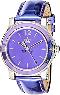 Juicy Couture Women's Purple Dial Leather Band Watch - F1900840