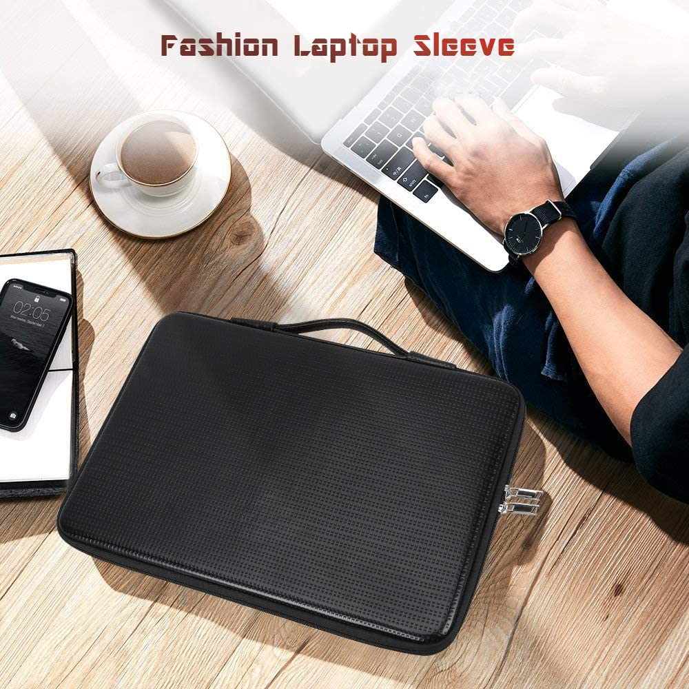 Notebook Waterproof Leather MacBook Air//Pro FYY 12-13.3 Laptop Sleeve Bag Case with Inner Tuck Net Fits All 12-13.3 Inches Laptops Tablet iPad Brown Solid Hard Shape