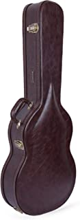 Crossrock Guitar, Vintage Brown Arch-top Wooden case for 4/4 Full Size Classical (CRW600CBR)