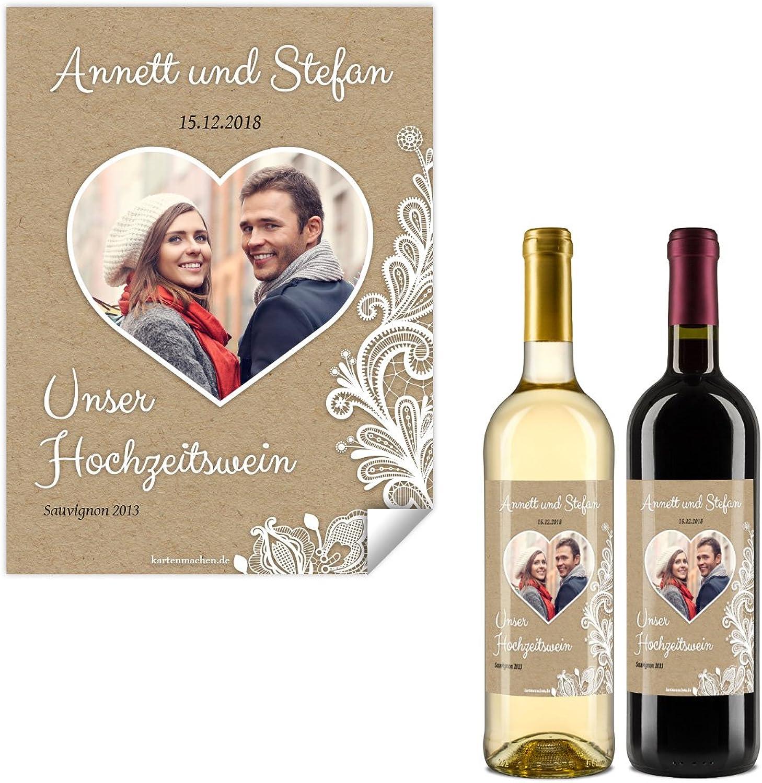 50 50 50 x Flaschenetikett Hochzeit Aufkleber Etikett selbstklebend - Rustikal Kraftpapier Look B0785GSD2T | Hat einen langen Ruf  30cdf0