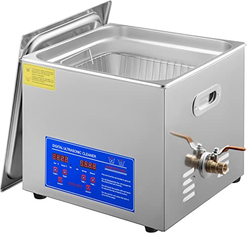 high quality Mophorn outlet online sale Commercial Ultrasonic Cleaner 15L Heated Ultrasonic Cleaner with Digital Timer for Cleaning Eyeglasses Rings Stainless Steel outlet online sale Ultrasonic Cleaner online